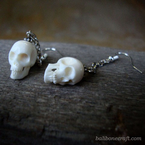 Skull Earring made from bone